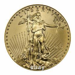 2020 1/2 Oz D'or American Eagle 25 $ Gem Bu Sku59567