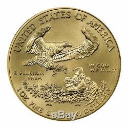 2020 1 Oz D'or American Eagle 50 $ Gem Bu Sku59577