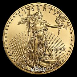 2020 1 Oz D'or American Eagle 50 $ Us Gold Coin Bu