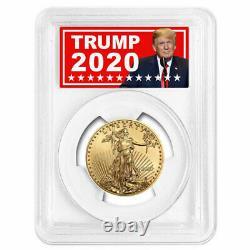 2020 $25 American Gold Eagle 1/2 Oz Pcgs Ms70 Trump 2020 Label
