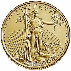 2020 $5 Gold American Eagle 1/10 Oz Brilliant Uncirculated
