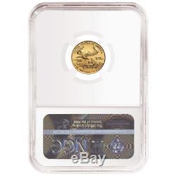 2020 $ 5 Gold Eagle Américain 1/10 Onces. Ngc Ms70 Brown Étiquette