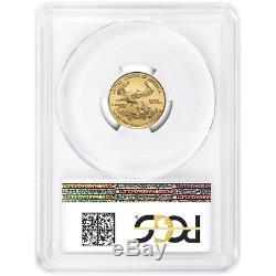 2020 $ 5 Gold Eagle Américain 1/10 Onces. Pcgs Ms70 Premier Drapeau De Grève Étiquette