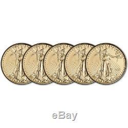 2020 Américaine Gold Eagle 1/10 Oz 5 $ Bu Cinq 5 Pièces