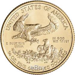 2020 Américaine Gold Eagle 1/4 Oz $ 10 Pièce Bu En U. S. Mint Boîte-cadeau