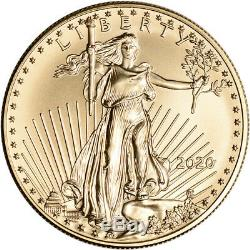 2020 Américaine Gold Eagle 1 Oz 50 $ Pcgs Ms70 First Strike