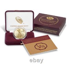 2020 American Eagle Gold Proof Coin Fin De Ww2 75th Anniversary V75 Expédié