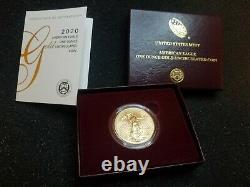 2020 American Eagle One Ounce Gold Uncirculated 20eh Ships Fedex Overnight