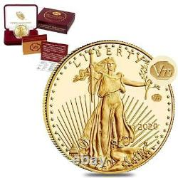 2020 American Gold Eagle Proof 1oz Coin V75 Fin De La Seconde Guerre Mondiale 75e Anniversaire