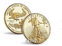 2020 American Gold Eagle Proof 1oz Pièce V75 Fin De La Seconde Guerre Mondiale 75e Anniversaire