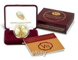 2020 American Gold Eagle V75 Fin De La Seconde Guerre Mondiale 75e Anniv Pièce Confirmée Ordre De Menthe