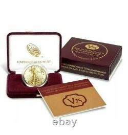 2020 American Gold Eagle V75 Fin De La Ww2 75e Anniv Monnaie Monnaie Confirmée Ordre