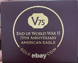 2020 Fin De La Seconde Guerre Mondiale 75e Anniversaire American Eagle Gold Pf70 Ultra Cameo V75