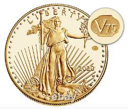2020 Fin De La Seconde Guerre Mondiale 75e Anniversaire American Eagle Gold Proof Coin 20xe