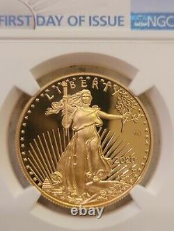 2020 Fin De La Seconde Guerre Mondiale 75e Anniversaire Gold Eagle Ngc Pf70 Premier Jour De Numéro