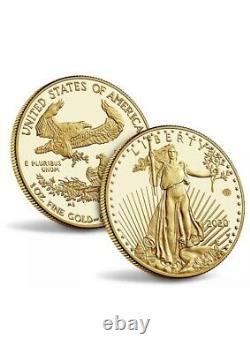 2020 Fin De La Seconde Guerre Mondiale 75e Anniversaire Preuve D'or American Eagle Coin