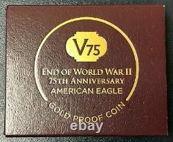2020 Fin De La Seconde Guerre Mondiale 75e Anniversaire V75 American Eagle Gold Proof