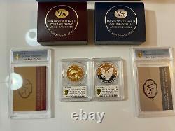 2020 Fin De La Seconde Guerre Mondiale V 75e Anniversaire American Eagle Gold Silver Coin Pr70