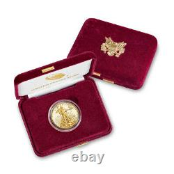 2020 W American Gold Eagle Proof 1/2 Oz 25 $ En Ogp