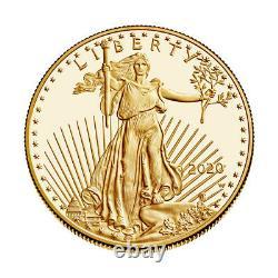 2020 W American Gold Eagle Proof 1 Oz 50 $ En Ogp