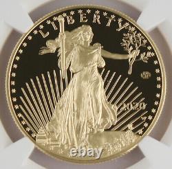 2020 W Wwii 75e Anniversaire Américain 1 Oz Gold Eagle V75 Ngc Pf70 Uc Er En Main