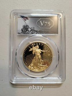 2020-w $50 V75 Fin De La Seconde Guerre Mondiale American Eagle Gold Pcgs Pr69dcam Firststrike