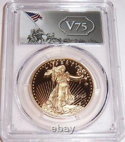 2020-w $50 V75 Fin De La Seconde Guerre Mondiale American Gold Eagle Pcgs Pr69dcam Firststrike