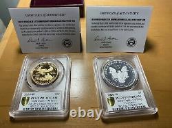 2020-w Fin De La Seconde Guerre Mondiale V75 $50 American Gold Eagle & $1 Silver Eagle Pr70dcam Pcgs