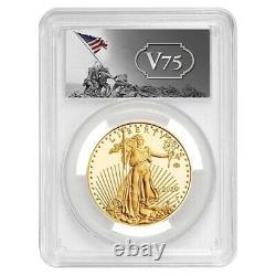 2020-w V75 1 Oz Proof Gold American Eagle End Of Wwii Pcgs Pf 69 Fdoi Iwo Jima