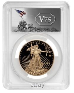 2020-w V75 Gold Wwii Privy Pcgs Pr70dcam Fdoi Coin 20xe Eagle 1 De 1945