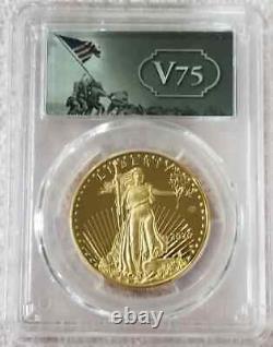 2020-w V75 Privé 1 Oz Proof Gold Eagle End Of World War II 75th Anniv Pcgs Pr69