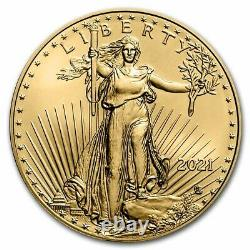 2021 1/10 Oz American Gold Eagle Bu (type 2) Sku #229438