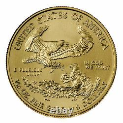 2021 1/10 Oz Gold American Eagle T-1 5 $ Gem Bu