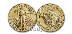 2021 1/10 Oz Type 2 5 $ Gold American Eagle Ngc Ms 70 Premiers Rejets T-2