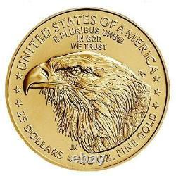 2021 1/2 Oz American Gold Eagle Coin Type 2 Bu 25 $