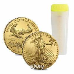 2021 1/2 Oz Gold American Eagle 25 $ Pièce Bu