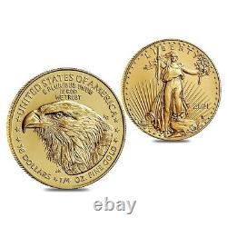 2021 1/4 Oz Aigle D'or Américain 10 $ Pièce Bu Type 2