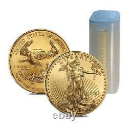 2021 1/4 Oz Gold American Eagle 10 $ Pièce Bu
