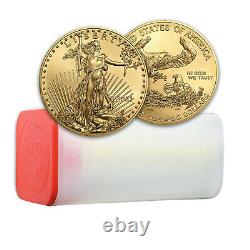 2021 1 Oz American Gold Eagle Bu (tube De 20)