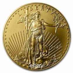 2021 1 Oz American Gold Eagle Ms-70 Pcgs Sku#231010