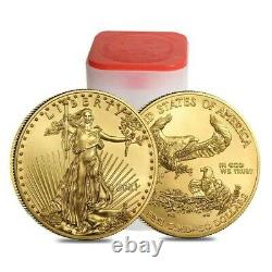 2021 1 Oz American Gold Eagle Type 1 50 $ Us Gold Coin Bu