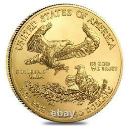 2021 1 Oz Gold American Eagle 50 $ Pièce Bu