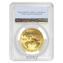 2021 1 Oz Gold American Eagle Pcgs Ms 69 Première Grève