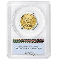 2021 $10 American Gold Eagle 1/4 Oz Pcgs Ms70 First Strike Flag Label