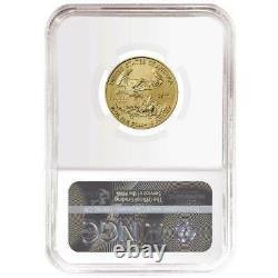 2021 10 $ Type 1 Aigle D'or Américain 1/4 Oz. Ngc Ms69 Als Er Étiquette