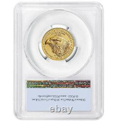 2021 10 $ Type 2 American Gold Eagle 1/4 Oz Pcgs Ms70 Fs Flag Label