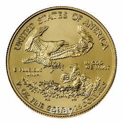 2021 $25 American Gold Eagle 1/2 Oz Brilliant Uncirculated