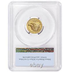 2021 $5 Type 2 American Gold Eagle 1/10 Oz Pcgs Ms70 Fs Drapeau Étiquette
