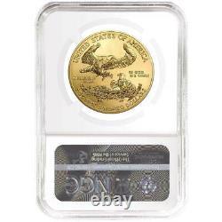 2021 $50 American Gold Eagle 1 Oz Ngc Ms70 Black Er Label