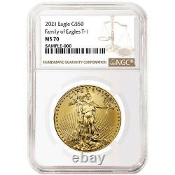 2021 $50 American Gold Eagle 1 Oz Ngc Ms70 Brown Label